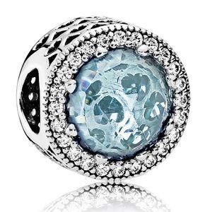 Pandora Radiant Hearts Glacier Blue Charm